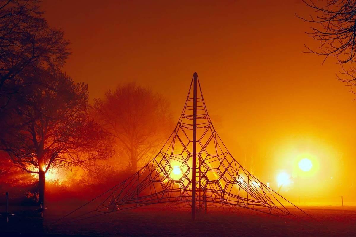 playground at night
